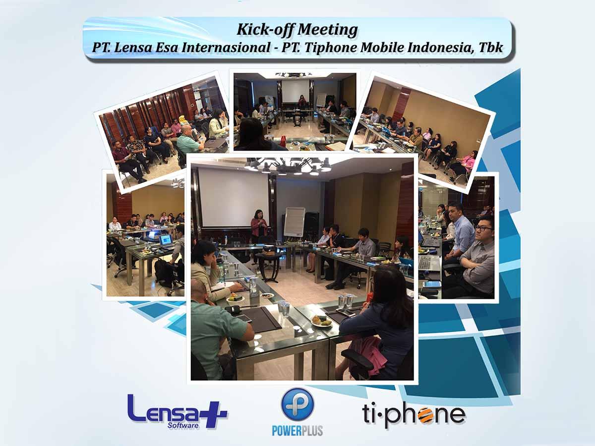 Kick-off Meeting PT. Lensa Esa Internasional & PT. Tiphone Mobile Indonesia, Tbk