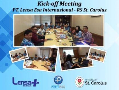 Kick-off Meeting PT. Lensa Esa Internasional & PT. Bhakti Karya Vita (RS St. Carolus)
